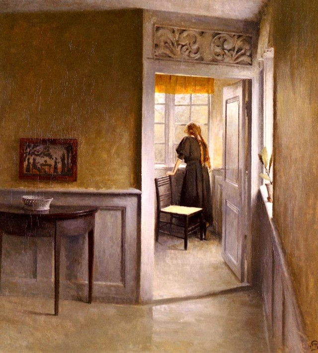 Peter_Vilhelm_Ilsted_(Danish_artist,_1861-1933)_Looking_Out_the_Window, 1908